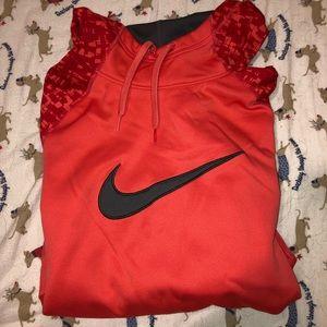 Orange Nike Dry Fit sweatshirt